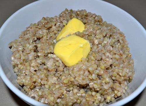 Yummy warm buckwheat porridge