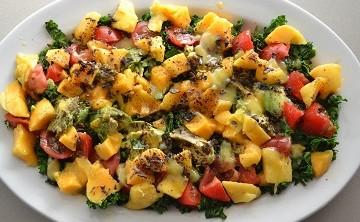 Summer Kale and Mango Salad