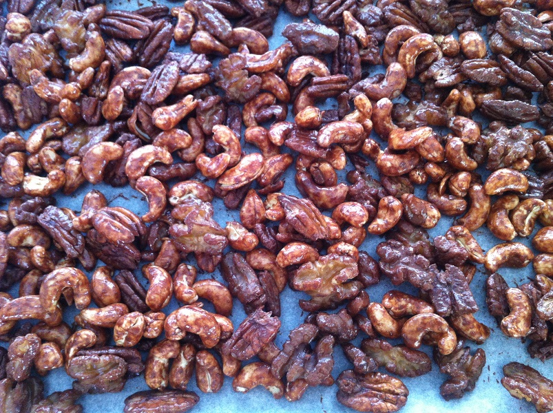 activated candied nuts