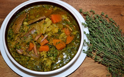 Thyme and Turmeric Lamb Shank Stew