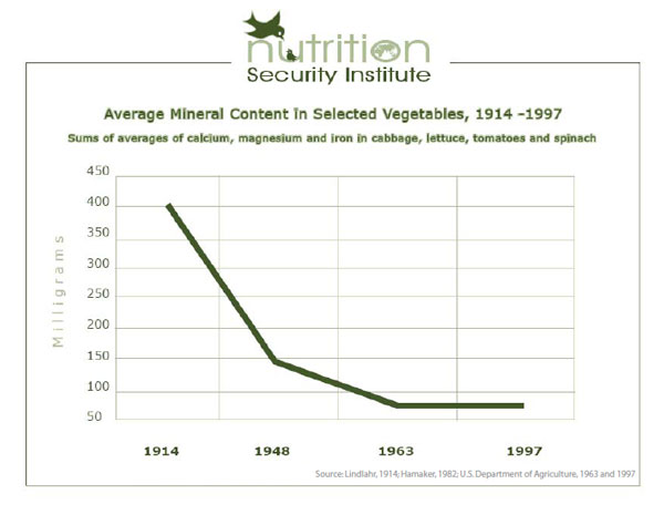 Minding our minerals true foods nutrition for Soil mineral content