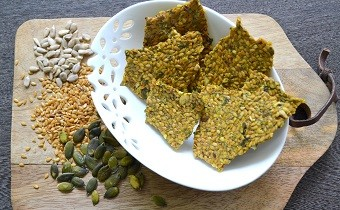 Nutritious Home-made Seed Crackers