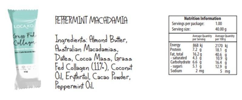 Loca Ko ingredients True foods Nutrition